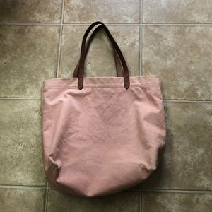 Madewell canvas tote:) Purchased at Christmas.